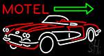 Motel Arrow With Car Logo Neon Sign