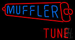 Muffler Tune With Red Logo Neon Sign