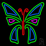 Multicolor Butterfly Neon Sign