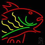 Multi Color Fish Neon Sign