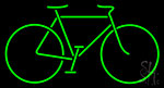 Bicycle Green Neon Sign