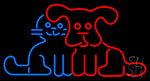 Pet Dog Logo Neon Sign