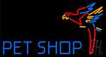 Pet Shop Parrot Neon Sign