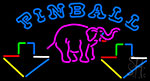 Pinball Elephant Neon Sign