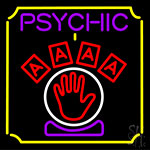 Psychic With Hand Neon Sign