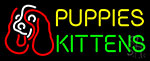 Puppies Kittens With Logo Neon Sign