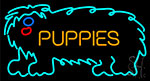 Puppies With Logo Neon Sign