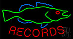Records Fish Neon Sign