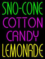 Sno Cone Cotton Candy Lemonade Neon Sign
