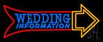 Wedding Information Neon Sign
