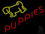 Yellow Puppies Neon Sign