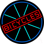 Bicycles With Wheel Neon Sign