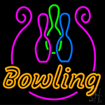 Bowling With Bowl Neon Sign