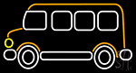 Bus Icon Neon Sign
