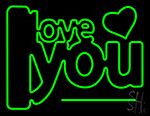 I Love You Green Neon Sign