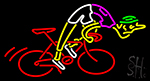 Man Riding Bicycle Neon Sign