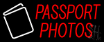 Passport Photos Neon Sign