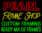 Pearl Frame Shop Neon Sign