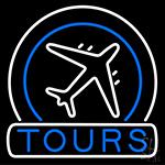 Tours Icon Neon Sign