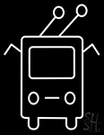 Trolleybus Bus Icon Neon Sign