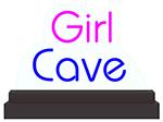 Custom Girl Cave Edge LIT LED Sign