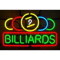 9 Ball Billiards Neon Sign