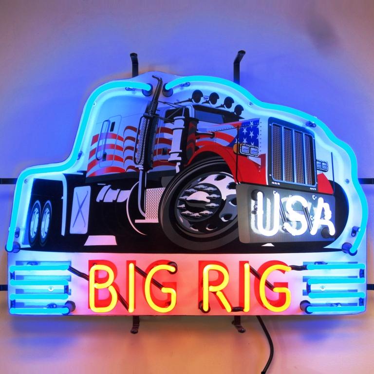 Big Rig Truck Neon Sign