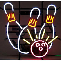 Bowling Strike Neon Sign
