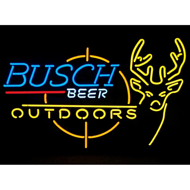 Busch Beer Outdoors Neon Sign