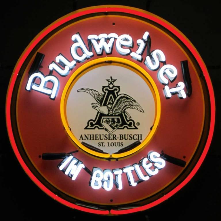 Budweiser in Bottles Neon Sign