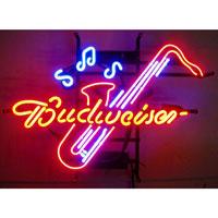 Budweiser Saxophone Neon Sign