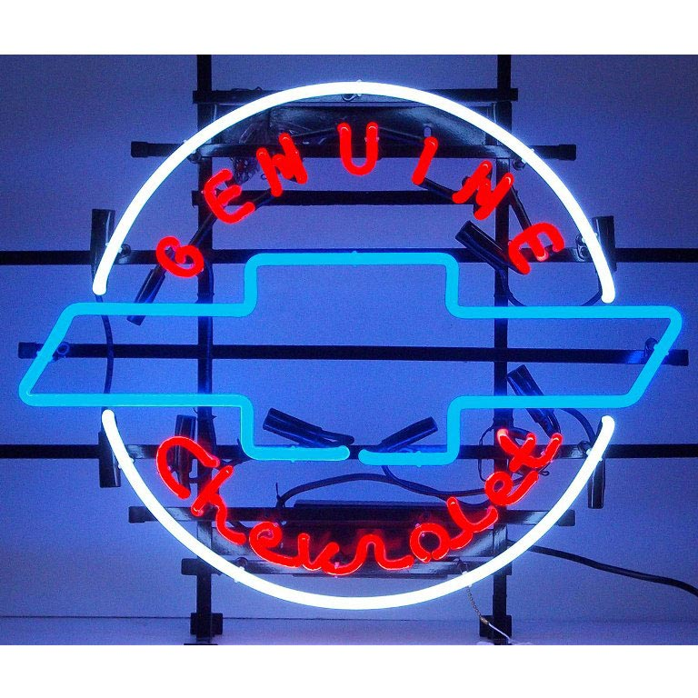 Genuine Chevrolet Heritage Emblem Neon Sign