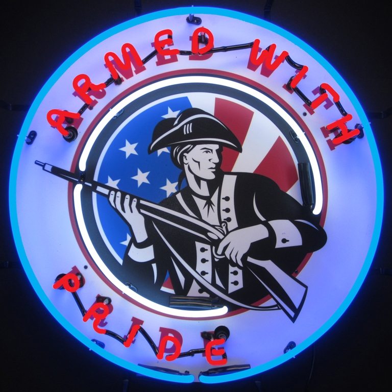 Armed with Pride Neon Sign