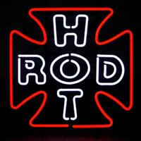 Hot Rod Cross Neon Sign