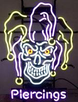 Jester Piercings Neon Sign