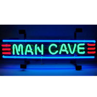 Man Cave Small Red Green & Blue Neon Sign
