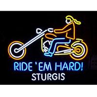 Ride Em Hard Sturgis Mototcyle Neon Sign