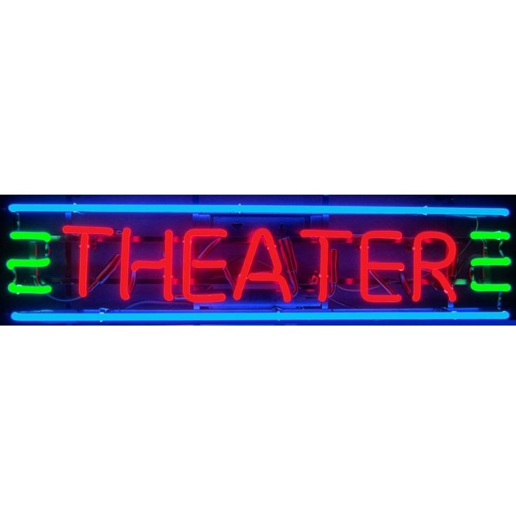 Theater Red Green & Blue Neon Sign