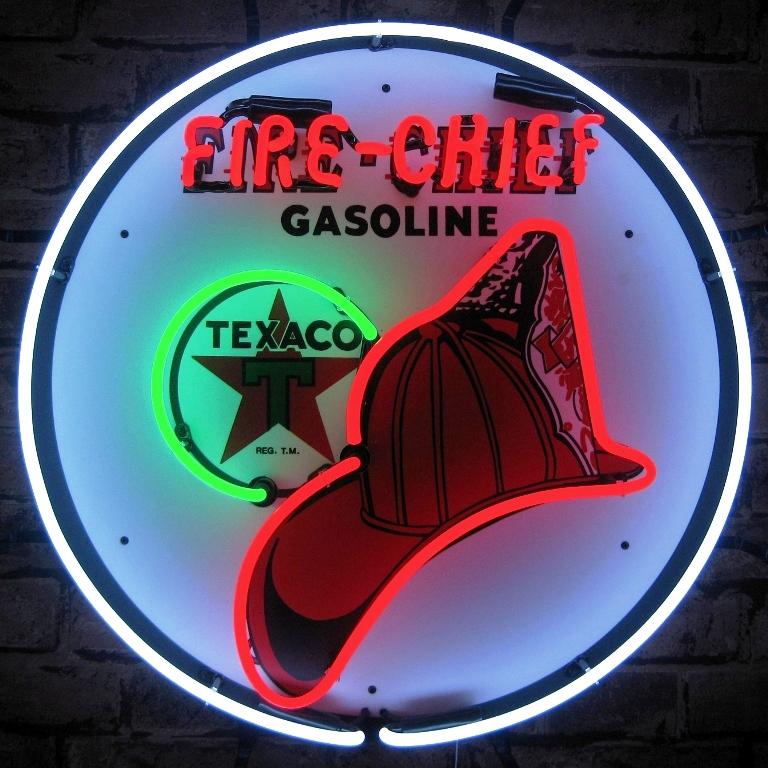 Texaco Fire Chief Neon Sign