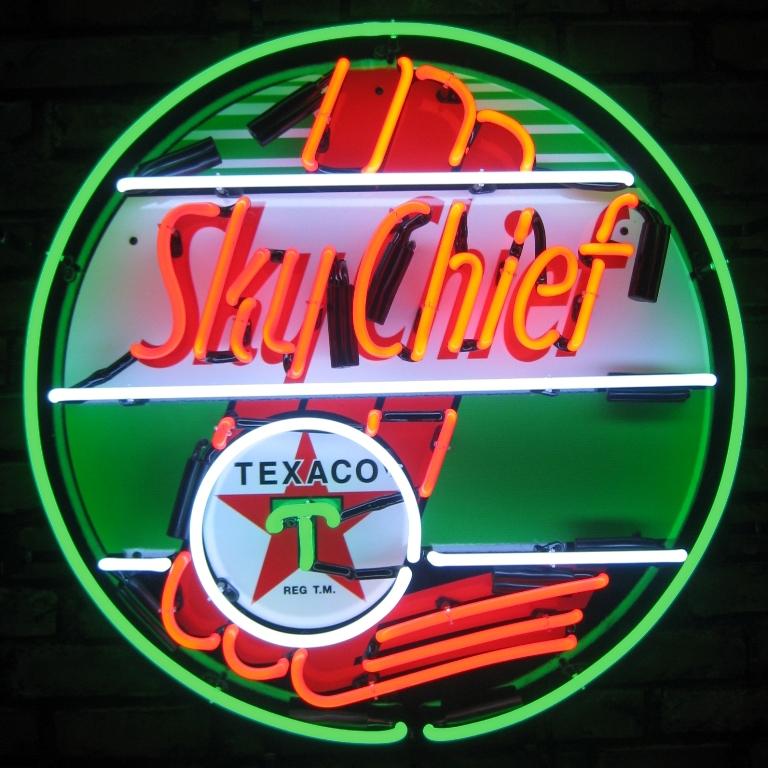 Texaco Sky Chief Neon Sign