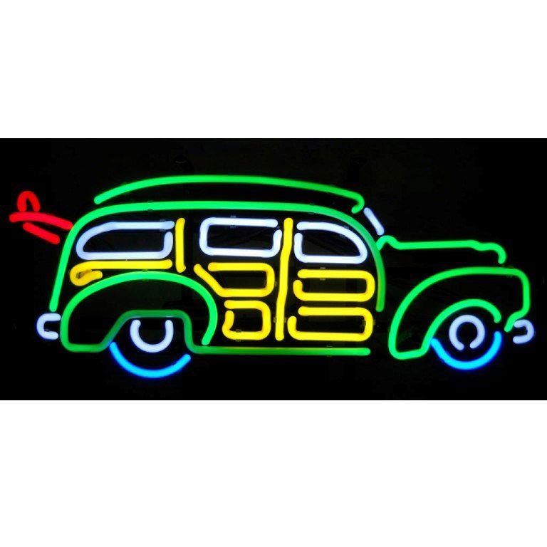 Surfin Woody Wagon Neon Sign