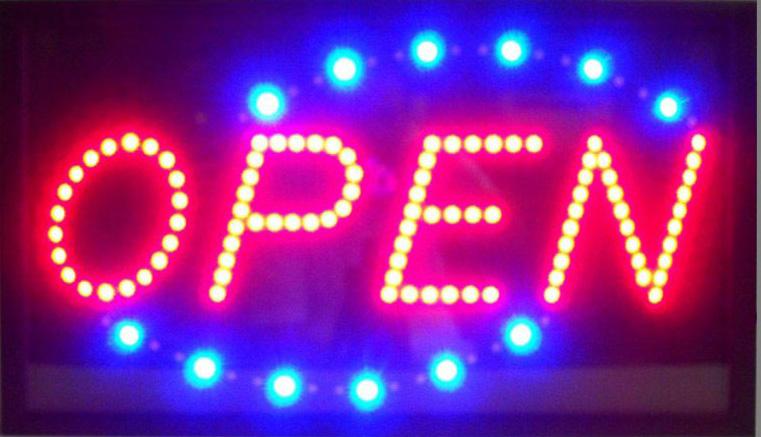 Open Horizontal Led Sign
