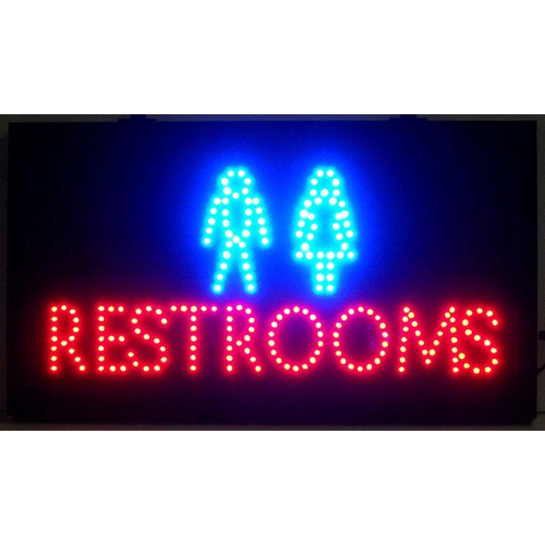 Restrooms Led Sign