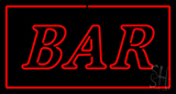 Rectangle Bar Red Neon Sign