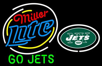 Miller Lite New York Jets Beer Neon Sign #0: N100 6049 miller lite new york jets beer neon sign