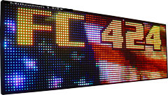 P7.62_16128RGB Indoor Programmable Led 36 Wide Full Color Led Sign
