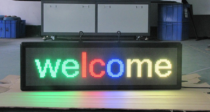 Full color Programmable Led Signs P7.62_32x64dots solution
