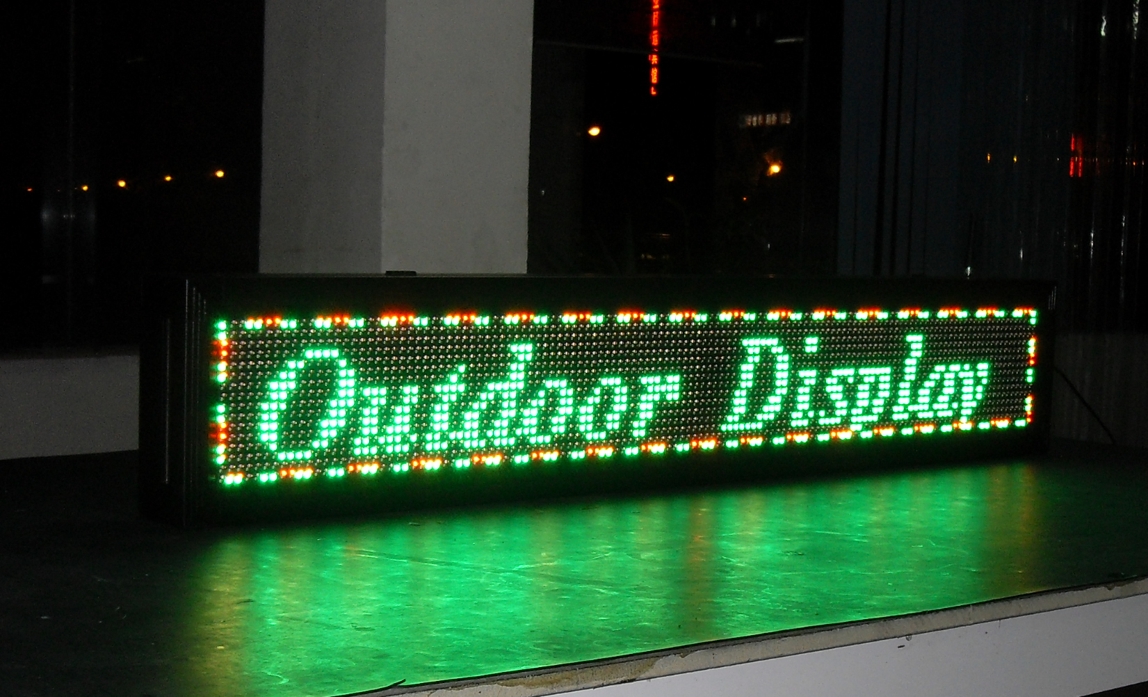 Semi-outdoor Tri-color Led sign