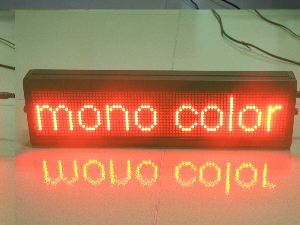 Semi-outdoor Red-color Led Window Sign P10_16x96dots solution