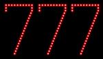 Custom 777 Led Sign 2